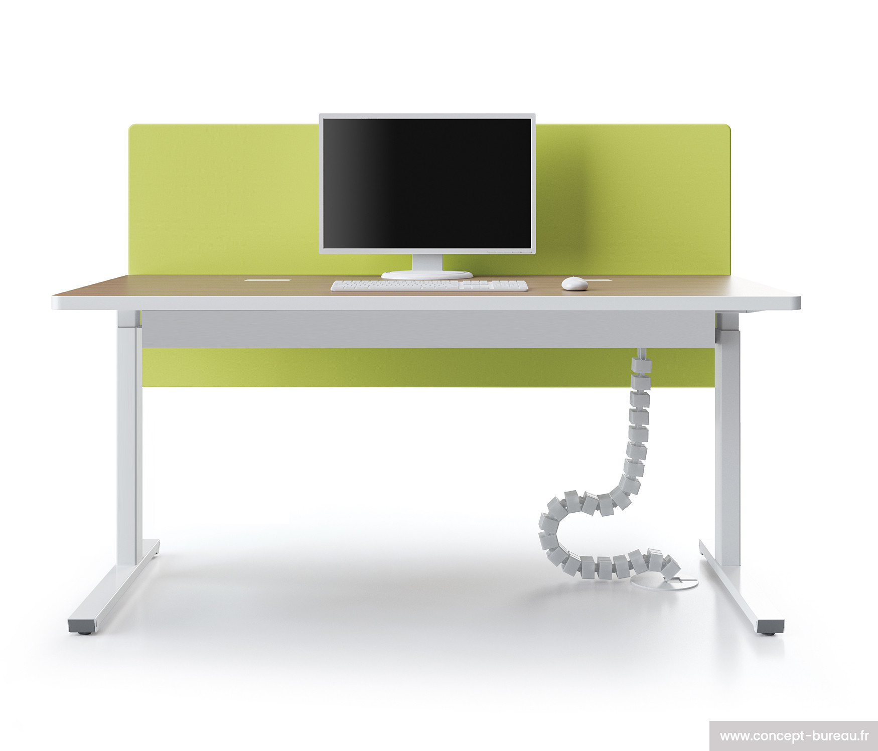 Table informatique reglable hauteur for Table bureau