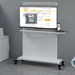 Support écran sur roulettes pour brainstorming ou salle de réunion