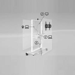 Meuble à roulettes support écran BOULIN
