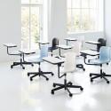 Chaise avec tablette écritoire pivotante 360°