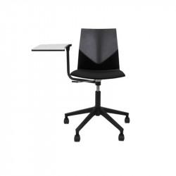 Chaise avec tablette écritoire noir