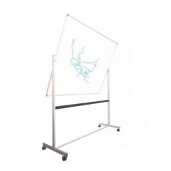 Tableau blanc rotatif sur roulettes
