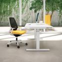 Bureau assis debout réglable en hauteur