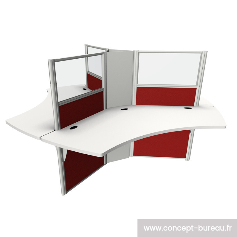 Bureau pour call center 3 personnes