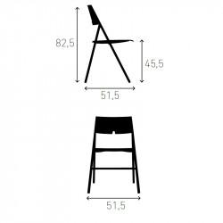 Chaise pliante empilable AXA de chez CASALA