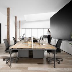 Bureau 4 personnes design industriel