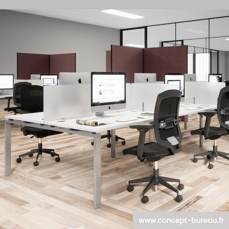 Bureau pour quatre personnes design