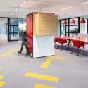 Cabine acoustique de bureau rouge