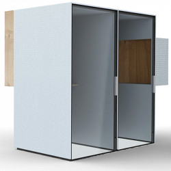 Double cabine acoustique de bureau