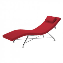 Chaise longue rouge