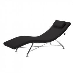 Chaise longue d'intérieur noir