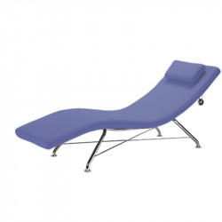 Chaise longue pour espace de repos