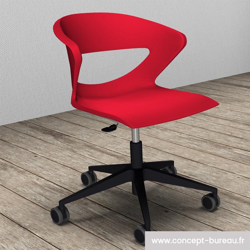 Chaise avec coque en polypro KICCA