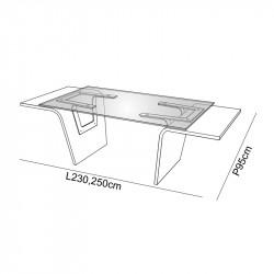 Bureau design verre - RASEUL