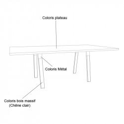 Table de réunion design 8 personnes  - REAU