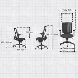 Fauteuil de bureau ergonomique  - SPIKE