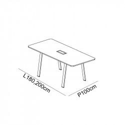 Table de réunion avec top accès TAVANNES