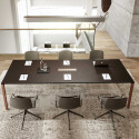 Table de réunion en bois pour 8 ou 12 personnes