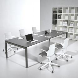 Grande table de réunion design en bois