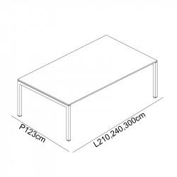Table de réunion design 8-12 personnes - POKANO