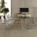 Table de réunion en verre design