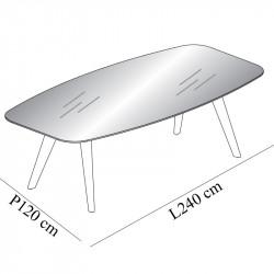 Table de réunion en verre 8 personnes - CHENAIE