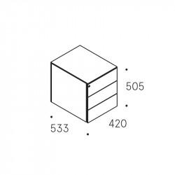 Caisson mobile 3 tiroirs NF Environnement - MORET