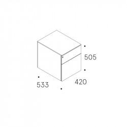 Caisson de bureau 2 tiroirs sur roulettes - MORET
