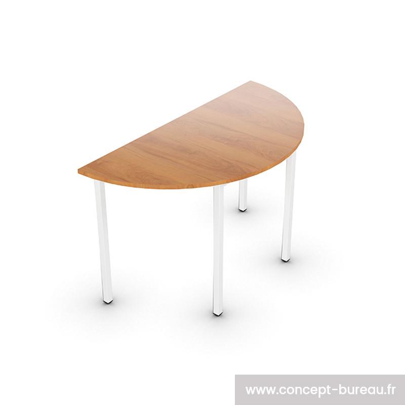 Table demi-lune pour réunion ou formation