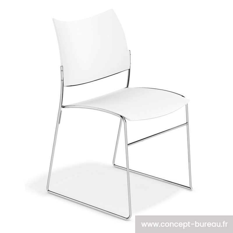 Chaise polypro empilable coloris blanc