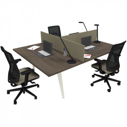 Bureau bench 3 personnes design DRALET