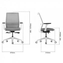 Fauteuil de bureau ergonomique mal de dos - ROCKY