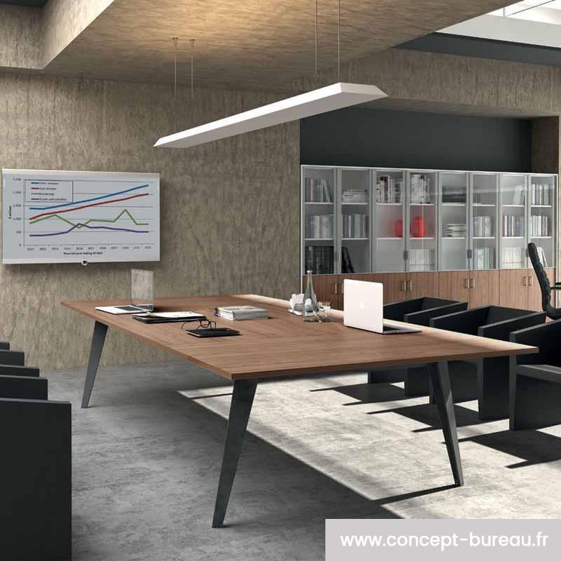 Table de réunion en bois 12 personnes