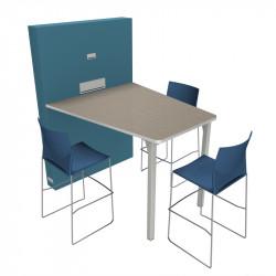 Table de visioconférence pour 3 personnes