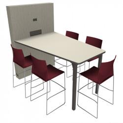 Table de visioconférence pour 5 personnes