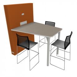 Table de réunion connectée pour 3 personnes