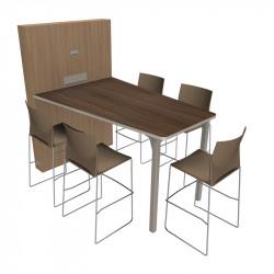 Table de visioconférence design pour 5 personnes
