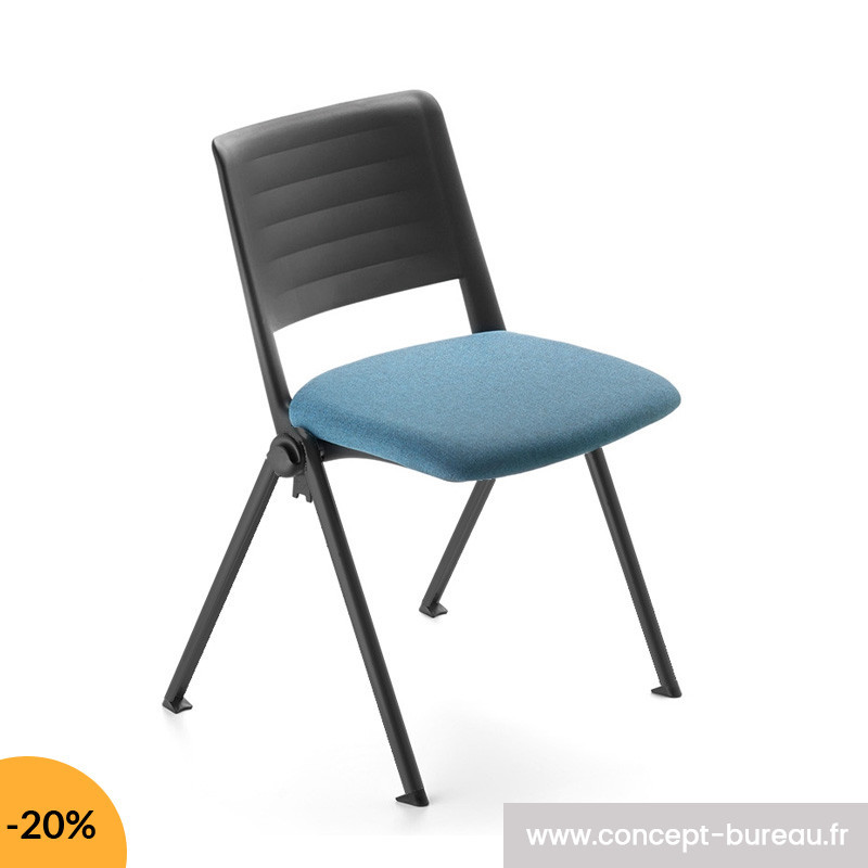 Chaise empilable assise tapissé SUKI