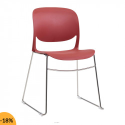Chaise de réunion design et empilable - LALY
