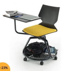 Chaise avec tablette rotative ISAKI