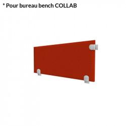 Cloison acoustique latérale pour bureau - COLLAB