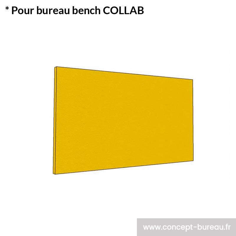 Cloison acoustique frontale pour bureau COLLAB