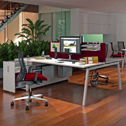 Caisson hauteur bureau avec bureau COLLAB