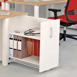 Caisson hauteur bureau avec tiroirs dossiers suspendus