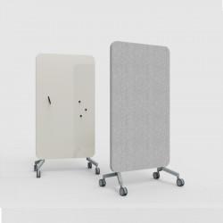 Cloison mobile acoustique et magnétique L100 coloris gris