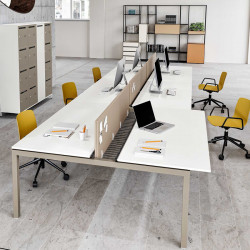 Bureau bench 6 personnes pour open space