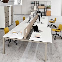Bureau bench 6 personnes pour open space