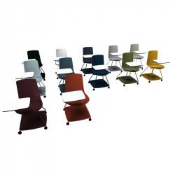 chaise avec tablette intégrée