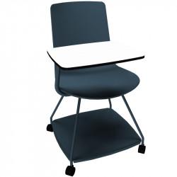 chaise à roulette avec tablette
