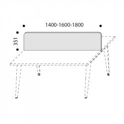Cloison acoustique pour bureau bench DRALET